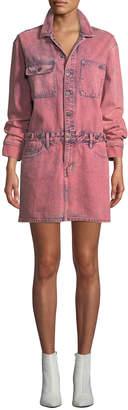 Current/Elliott The Jumpsuit Long-Sleeve Denim Dress
