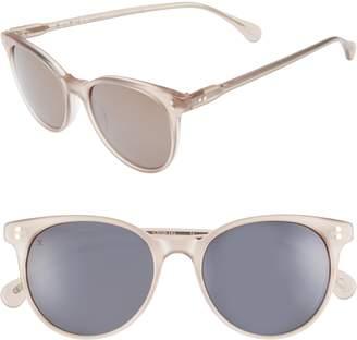Raen Norie 51mm Cat Eye Mirrored Lens Sunglasses