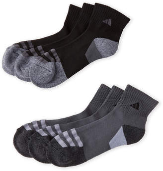 adidas 6-Pack Quarter-Cut Cushioned Socks
