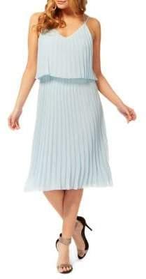 Dex Pleated V-Neck Dress