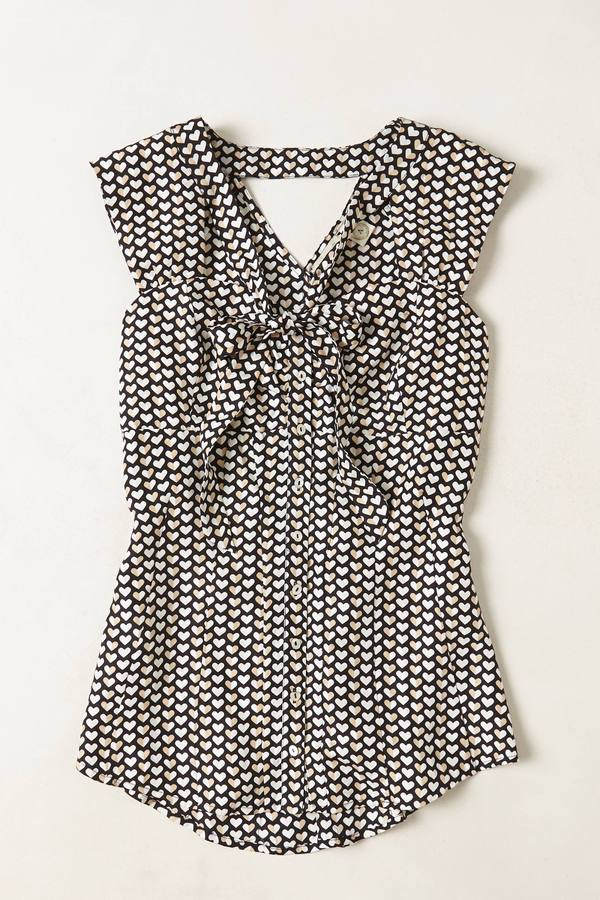 Anthropologie Archival Collection: Heart Tie-Neck