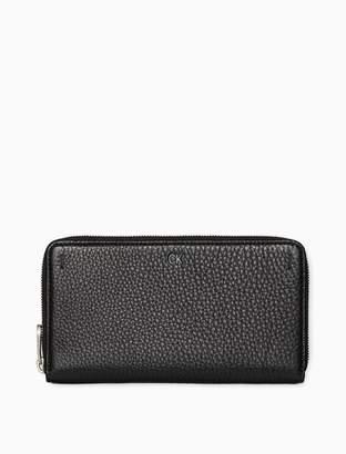 Calvin Klein pebble essentials long zip wallet