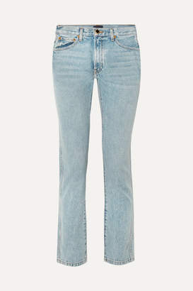 KHAITE Kyle Low-rise Straight-leg Jeans - Light blue