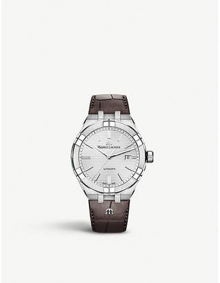 Maurice Lacroix AI6008-SS001-130-1 Aikon stainless steel and leather watch