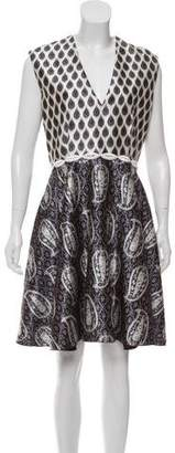 Giambattista Valli Silk Printed A-Line Dress