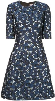 Lela Rose metallic print dress
