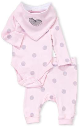 Absorba Newborn Girls) 3-Piece Dots Bodysuit & Pants Set