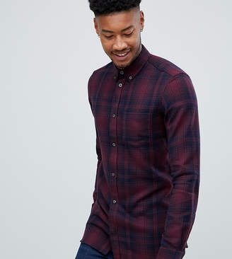 French Connection TALL Large Over Check Shirt