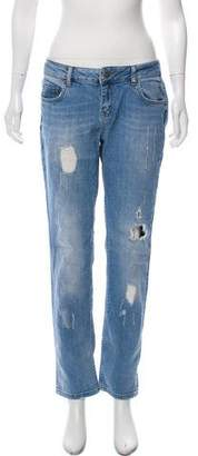 Anine Bing Distressed Mid-Rise Jeans