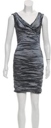 Nicole Miller Ruched Metallic Dress