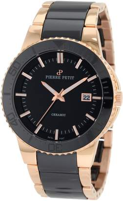 Pierre Petit Men's P-807C Serie Colmar Ceramic and Rose-Gold PVD Stainless-Steel Watch