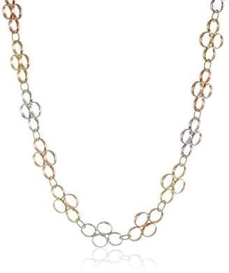 14k Gold Circle Link Necklace
