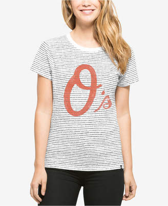 '47 Baltimore Orioles Mlb Women Sparkle Stripe T-Shirt