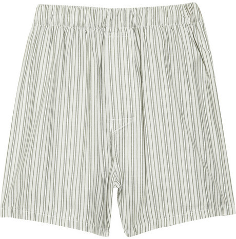 See by Chloé Striped cotton shorts
