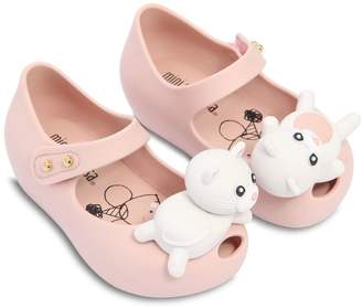 Mini Melissa Scented Cat Rubber Ballerina Flats