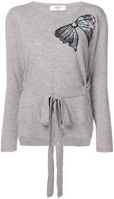 Blugirl embellished bow jumper