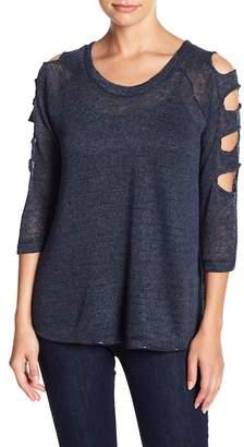 Sweet Romeo Cutout Sleeve Sweater