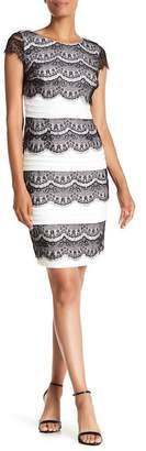 Sangria Cap Sleeve Lace Dress