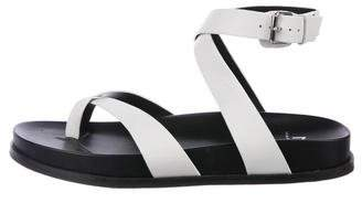 Marc Fisher Leather Crossover Sandals