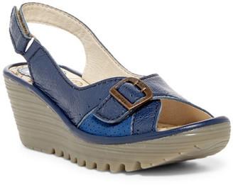 FLY London Yaga Platform Wedge Sandal $165 thestylecure.com