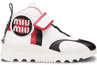 Miu Miu touch-strap hi-top sneakers