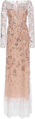 Jenny Packham Comet Embellished Long Sleeve Dress