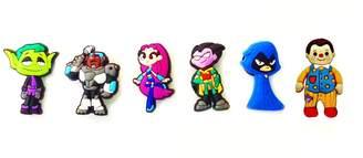 Hermes 6 pcs Teen Titans Go Shoe Charms / 6 pieces Jeu des Charmes de Chaussure