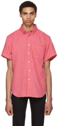 Naked and Famous Denim Pink Double Weave Gauze Shirt