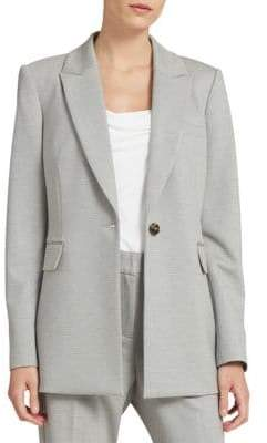 Donna Karan Long Button Blazer