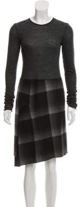 Derek Lam Plaid Long Sleeve Dress