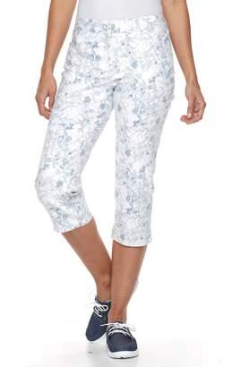 Croft & Barrow Women's Floral Capri Jeans