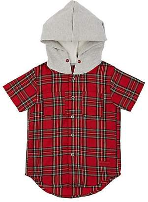 Haus of JR Kids' George Cotton Flannel Hooded Shirt - Red