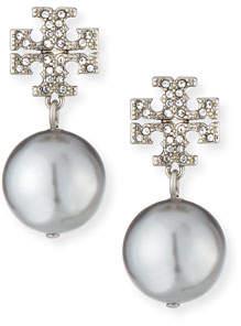 Tory Burch Crystal Pave Pearl Drop Earrings