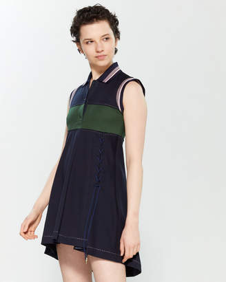 Carven Lace-Up Polo Mini Dress