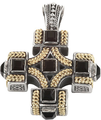 Konstantino Men's Sterling Silver & 18K Gold Cross Pendant with Onyx $1,450 thestylecure.com