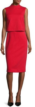 Diane von Furstenberg Tali Popover Sleeveless Sheath Dress, Scandal Red $328 thestylecure.com