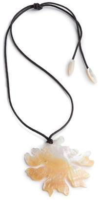 Josie Natori Mother Of Pearl Coral Necklace
