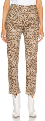 Fly London Miaou Zip Junior Pant in Tan Zebra | FWRD