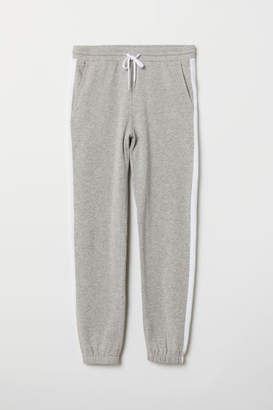 H&M Sweatpants with Side Stripes - Gray