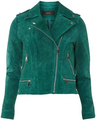 Dorothy Perkins Womens **Vero Moda Green Suede Jacket