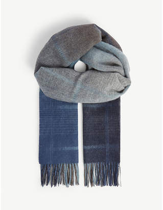 Paul Smith Faded check wool scarf