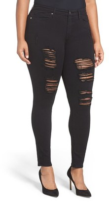Women's Good American Good Legs Ripped Skinny Jeans $179 thestylecure.com