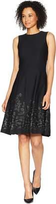 Calvin Klein Embroidered A-Line Hem Dress CD8C57NT Women's Dress