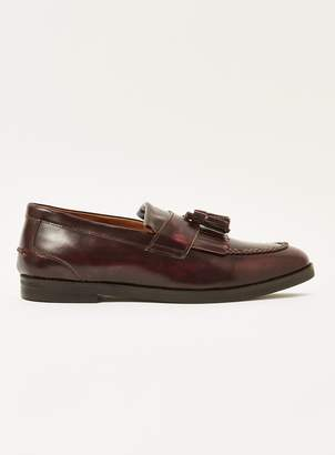 Topman Leather 'Dexter' Fringing Loafers
