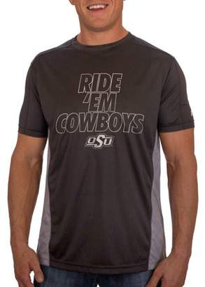 NCAA Russell Oklahoma State Cowboys Men's Athletic Fit Black / Storm Gray Impact Tee