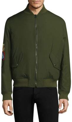 As65 Ripstop Coyote Fur-Lined Bomber Jacket