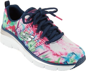Skechers Tropical Print Sneaker Wedges - Spring Essential