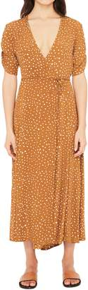 Faithfull The Brand Chiara Dot Print Wrap Dress