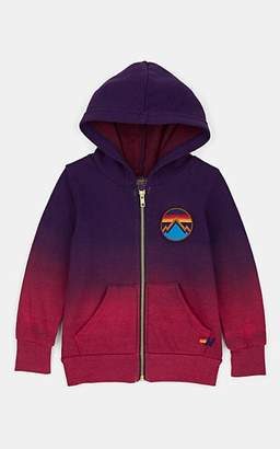 Aviator Nation Kids' Embroidered Gradient Cotton-Blend Fleece Hoodie