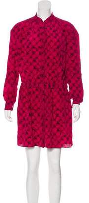 Diane von Furstenberg Silk Long Sleeve Dress